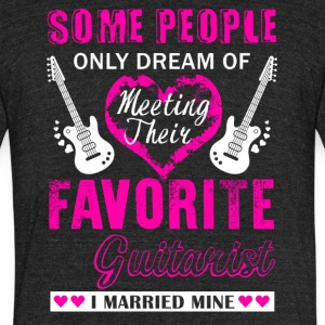 Guitarist Wife Shirt - Unisex Tri-Blend T-Shirt by American Apparel