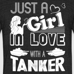 Girl In Love With Tanker Shirt - Unisex Tri-Blend T-Shirt by American Apparel