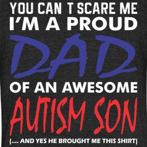 Im A Proud Dad Of An Awesome Autism Son - Unisex Tri-Blend T-Shirt by American Apparel