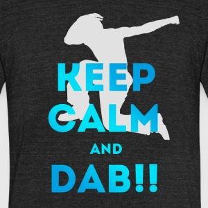 dab keep calm dabbing football touchdown dance lol - Unisex Tri-Blend T-Shirt by American Apparel