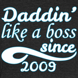 daddin like a boss since Daddin Like A Boss Since - Unisex Tri-Blend T-Shirt by American Apparel