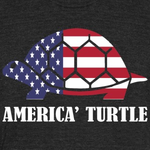 American Turtle Flag Memorial Day USA - Unisex Tri-Blend T-Shirt by American Apparel