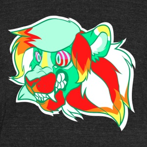 Psychedelic Lion - Unisex Tri-Blend T-Shirt by American Apparel