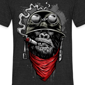 Ape Of Duty - Unisex Tri-Blend T-Shirt by American Apparel