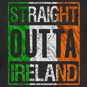 straight outta ireland - Unisex Tri-Blend T-Shirt by American Apparel