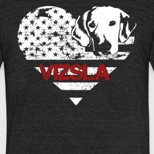 Love Vizsla Shirt - Unisex Tri-Blend T-Shirt by American Apparel