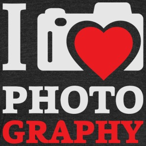 I heart love photography photographer t-shirt - Unisex Tri-Blend T-Shirt by American Apparel