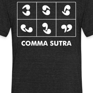 Comma Sutra - Unisex Tri-Blend T-Shirt by American Apparel