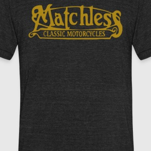 Matchless Biker Classic Gold Logo - Unisex Tri-Blend T-Shirt by American Apparel