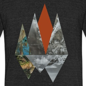 Peaks - Unisex Tri-Blend T-Shirt by American Apparel