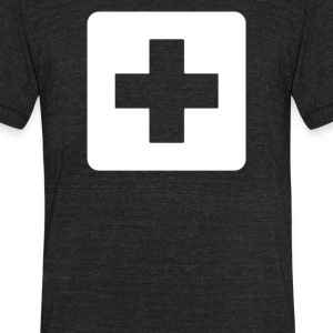 First Aid Symbol - Unisex Tri-Blend T-Shirt by American Apparel