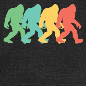 Retro Bigfoot Pop Art - Unisex Tri-Blend T-Shirt by American Apparel