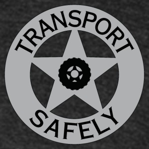 Transport Safely Logo - Unisex Tri-Blend T-Shirt by American Apparel