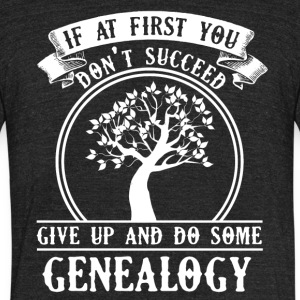 Genealogy Tee Shirt - Unisex Tri-Blend T-Shirt by American Apparel
