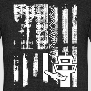 Air Traffic Control Flag Shirt - Unisex Tri-Blend T-Shirt by American Apparel