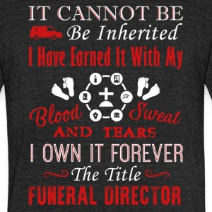 Forever Funeral Director Shirt - Unisex Tri-Blend T-Shirt by American Apparel