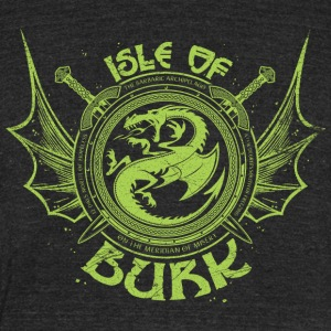 Isle of Burk - Unisex Tri-Blend T-Shirt by American Apparel