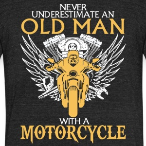 An Old Man With A Motorcycle T Shirt - Unisex Tri-Blend T-Shirt by American Apparel