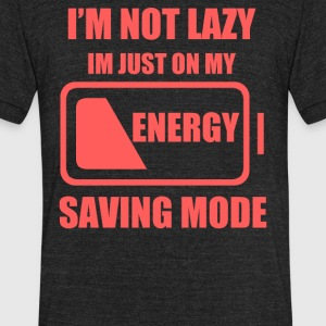 My Energy Saving Mode - Unisex Tri-Blend T-Shirt by American Apparel