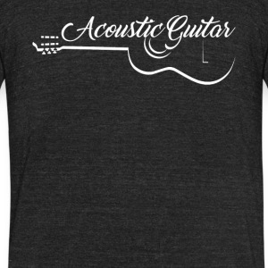 Acoustic Guitar Shirt - Unisex Tri-Blend T-Shirt by American Apparel