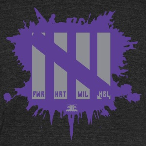 Attributes Gray/Purp - Unisex Tri-Blend T-Shirt by American Apparel