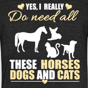 I Need All These Animals Shirt - Unisex Tri-Blend T-Shirt by American Apparel