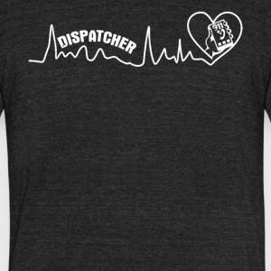 Dispatcher Heartbeat Shirt - Unisex Tri-Blend T-Shirt by American Apparel