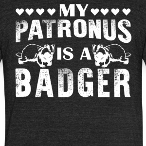 My Patronus Is A Badger Shirt - Unisex Tri-Blend T-Shirt by American Apparel