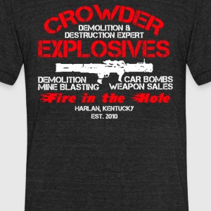 Crowder Explosives Justified - Unisex Tri-Blend T-Shirt by American Apparel