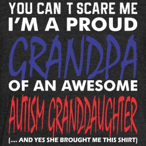 Im Proud Grandpa An Awesome Autism Granddaughter - Unisex Tri-Blend T-Shirt by American Apparel