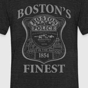 Police Boston's Finest - Unisex Tri-Blend T-Shirt by American Apparel