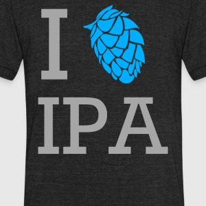 I Love Ipa - Unisex Tri-Blend T-Shirt by American Apparel