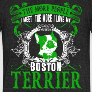 Love Boston Terrier Shirts - Unisex Tri-Blend T-Shirt by American Apparel