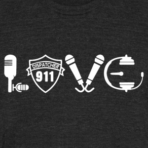 Love 911 Dispatcher Shirt - Unisex Tri-Blend T-Shirt by American Apparel