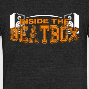 Inside The Beatbox Shirt - Unisex Tri-Blend T-Shirt by American Apparel