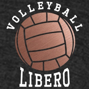 Rose Gold Volleyball Libero - Unisex Tri-Blend T-Shirt by American Apparel