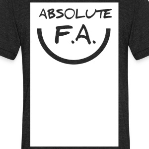 Absolute FA smiley - Unisex Tri-Blend T-Shirt by American Apparel