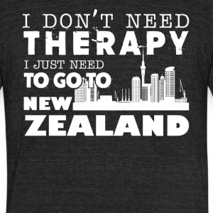 New Zealand Therapy Shirt - Unisex Tri-Blend T-Shirt by American Apparel