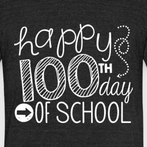 Happy 100th Day Of School T Shirt - Unisex Tri-Blend T-Shirt by American Apparel