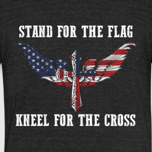 Stand for the flag US kneel for the cross - Unisex Tri-Blend T-Shirt by American Apparel