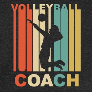 Vintage Volleyball Coach Graphic - Unisex Tri-Blend T-Shirt by American Apparel
