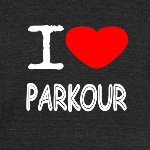 I LOVE PARKOUR - Unisex Tri-Blend T-Shirt by American Apparel