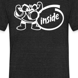 Boost Inside - Unisex Tri-Blend T-Shirt by American Apparel