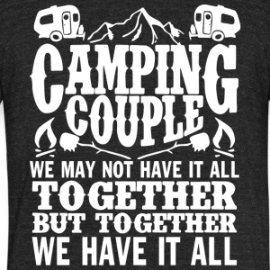 Camping Couple T Shirt - Unisex Tri-Blend T-Shirt by American Apparel