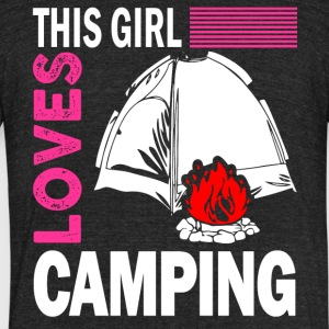 This Girl Loves Camping T Shirt - Unisex Tri-Blend T-Shirt by American Apparel