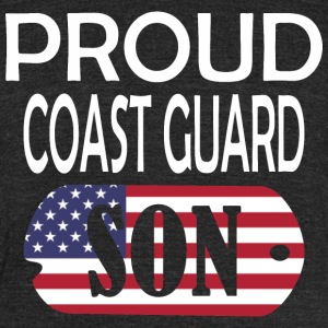 Proud Coast Guard Son - Unisex Tri-Blend T-Shirt by American Apparel