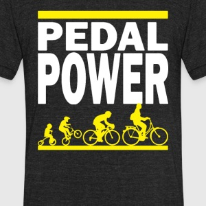 PEDAL POWER - Unisex Tri-Blend T-Shirt by American Apparel