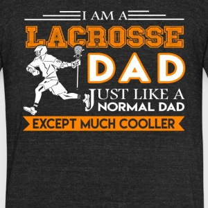 Lacrosse Dad Shirt - Unisex Tri-Blend T-Shirt by American Apparel