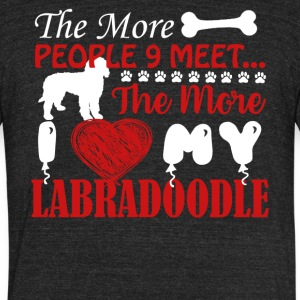 I Love My Labradoodle Shirt - Unisex Tri-Blend T-Shirt by American Apparel