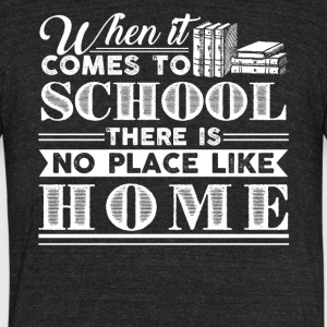 Homeschool Shirt - Unisex Tri-Blend T-Shirt by American Apparel